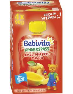 Bebivita Kinder Spaß Apfel-Pfirsich-Mango  (4 x 90 g) - 4018852017332