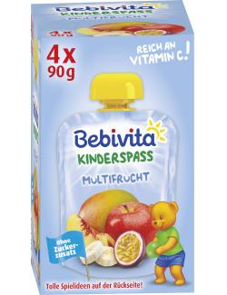 Bebivita Kinder Spaß Multifrucht  (4 x 90 g) - 4018852016892