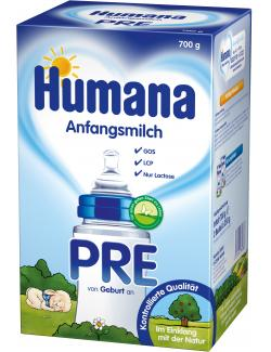Humana Anfangsmilch PRE  (700 g) - 4031244780386