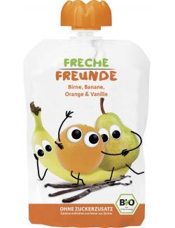 Erdb�r Freche Freunde Fruchtmus Birne-Banane-Orange-Vanille  (100 g) - 4260249140189