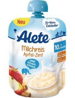 Alete Milchreis Apfel-Zimt  (85 g) - 4251099607014