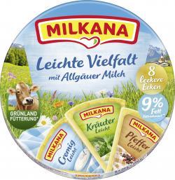 Milkana Schmelzkäse-Ecken Leichte Vielfalt  (8 x 25 g) - 4045357076588