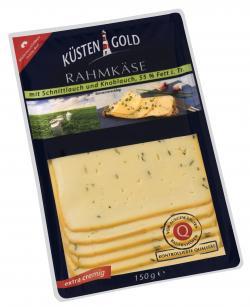 K�stengold Rahmk�se mit Schnittlauch und Knoblauch  (150 g) - 4250426214055