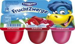 Danone Fruchtzwerge Erdbeere, Kirsche, Himbeere  (6 x 50 g) - 4009700005212