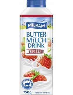 Milram Buttermilch Drink Erdbeer  (750 g) - 4036300059406