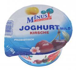 Minus L Joghurt mild Kirsche  (150 g) - 4062800002024