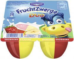 Danone Fruchtzwerge Duo Erdbeere-Banane  (4 x 95 g) - 4009700018731