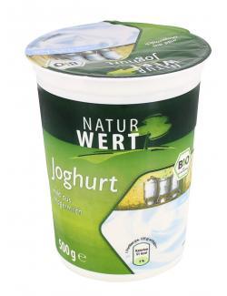NaturWert Bio Naturjoghurt 0,3% mild aus Magermilch  (500 g) - 4008471005223