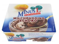 Minus L Milchpudding Schoko  (4 x 125 g) - 4062800001621
