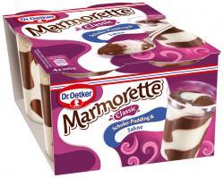 Dr. Oetker * Dr. Oetker Marmorette Pudding Schoko mit Sahne 896017
