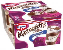 Dr. Oetker Marmorette Pudding Schoko Splits  (4 x 100 g) - 4023600008746