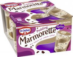 Dr. Oetker Marmorette Pudding Milchkaffee Splits  (4 x 100 g) - 4023600009149