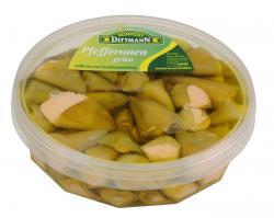 Feinkost Dittmann Pefferonen grün gefüllt mit Frischkäse  (1 kg) - 4002239936200
