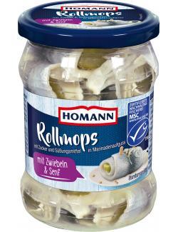 Homann Rollmops mit Zwiebeln & Senf  (500 g) - 4030800519057