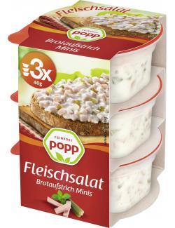 Popp Brotaufstrich Fleischsalat  (3 x 40 g) - 4045800213386