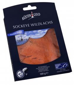 K�stengold Sockeye Wildlachs ger�uchert  (100 g) - 4250426214451