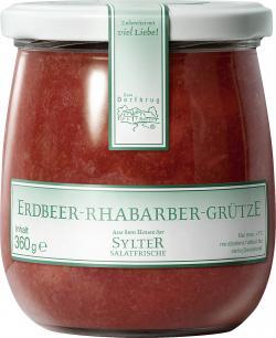 Zum Dorfkrug Erdbeer-Rhabarber-Gr�tze  (360 g) - 4260054653201