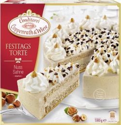 Coppenrath & Wiese Festtagstorte Nuss Sahne  (1,30 kg) - 4008577000122