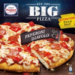 Original Wagner Big Pizza Peperoni Diavolo  (400 g) - 4009233012565