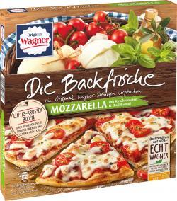 Original Wagner Die Backfrische Mozzarella mit Kirschtomaten & Basilikumöl  (350 g) - 4009233006847