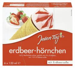 Jeden Tag Erdbeerh�rnchen  (6 x 120 ml) - 4306188819981