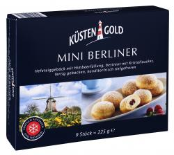 Küstengold Mini Berliner mit Himbeerfüllung  (225 g) - 4250426209662