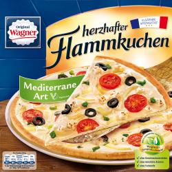 Original Wagner Herzhafter Flammkuchen mediterrane Art  (330 g) - 4009233003129