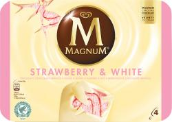 Magnum Strawberry White Familienpackung Eis  (4 St.) - 8722700054375