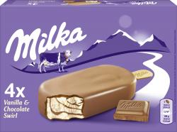 Milka Stieleis Schokolade-Vanille  (4 x 110 ml) - 4007993016885