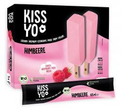 Kissyo Premium Frozen Yoghurt Himbeere Stieleis  (390 g) - 4250840730216