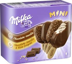 Milka Mini Stieleis Schokolade Vanille  (6 x 50 ml) - 4007993016946