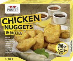 Vossko Chicken Nuggets im Backteig mit Dips  (500 g) - 4004155019838