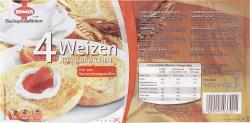 Sinnack Weizen Toastbrötchen  (200 g) - 4009097037001