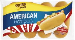 Golden Toast American Hot Dog  (250 g) - 4009249001621