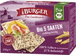 Burger Knäckebrot Bio 5-Saaten  (250 g) - 4012970012620