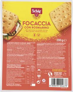 Sch�r Focaccia Rosmarin  (200 g) - 8008698004678