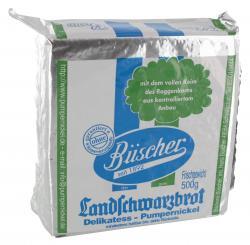 Büscher Landschwarzbrot  (500 g) - 4001214000004