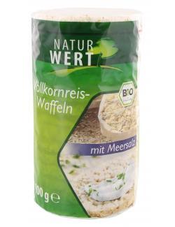 NaturWert Bio Vollkornreis-Waffeln mit Meersalz  (100 g) - 4250780309275