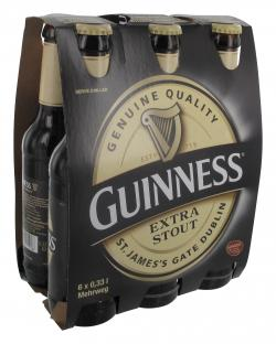 Guinness Extra Stout  (6 x 0,33 l) - 4000856106211