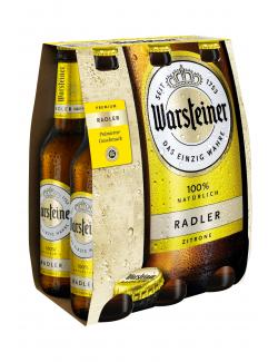 Warsteiner Radler Zitrone  (6 x 0,33 l) - 4000856105092