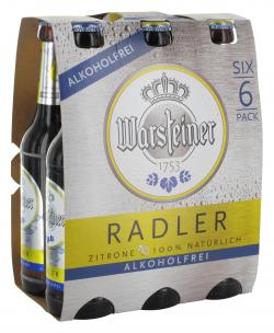 Warsteiner Radler alkoholfrei  (6 x 0,33 l) - 4000856107133