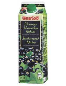 Wesergold Schwarzer Johannisbeer-Nektar  (1 l) - 40413082