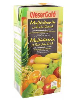Wesergold Multivitamin 12-Frucht-Getränk  (2 l) - 4100060004171