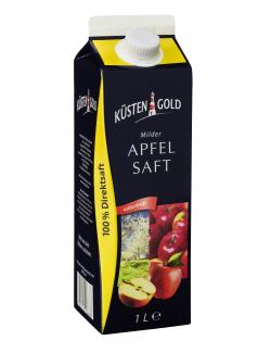 Küstengold Milder Apfelsaft naturtrüb  (1 l) - 4250426206678