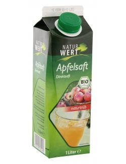 NaturWert Bio Apfelsaft naturtr�b  (1 l) - 4105550242101