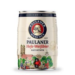Paulaner Hefe-Weißbier naturtrüb Partyfass  (5 l) - 4066600601951