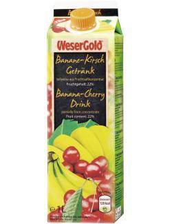Wesergold Banane-Kirsch Getr�nk  (1 l) - 4100060019687