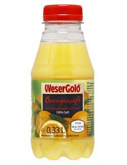 Wesergold Orangen-Saft Einzelflasche  (330 ml) - 4100060001125