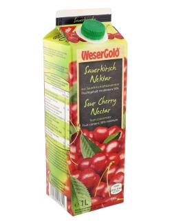 Wesergold Sauerkirsch-Nektar  (1 l) - 4100060018611