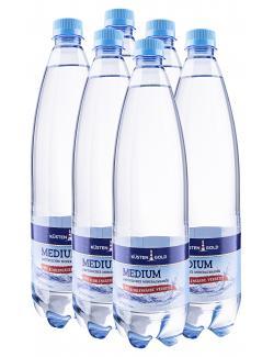 Küstengold Mineralwasser medium  (6 x 1 l) - 2000424155063